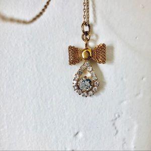Jcrew bow pendant necklace